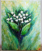 Lily Sculpture Framed Prints - Lily of the valley Framed Print by Raya Finkelson