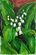 Most Favorite Paintings - Lily of the valley by Zaira Dzhaubaeva