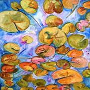 Phlox Painting Prints - Lily Pad Time Print by SchulmanArt