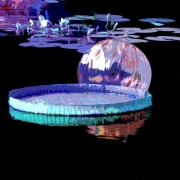 Lily Pond Originals - Lily Pads and Glass by John Lautermilch