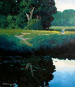Pads Paintings - Lily Pads by Kevin Lawrence Leveque