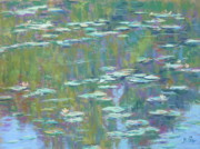 Impressionism Tapestries Textiles Originals - Lily Pond 2 by Michael Camp