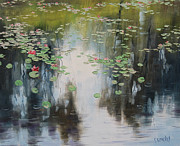 Lily Pond Paintings - lily Pond  by Graham Gercken