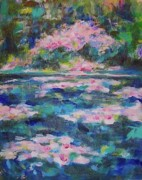 Spring Time Paintings - Lily Pond by Jan Statman