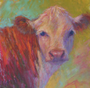 Bovines Posters - Lily Poster by Susan Williamson