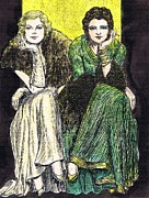 Fashion Plates Prints - Lilyan and Kay Print by Mel Thompson
