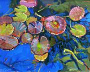 Duck Paintings - Lilypads by Brian Simons