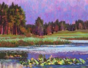 Markleeville Prints - Lilys in the Marsh Print by Bonita Paulis