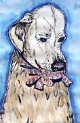 Golden Retriever Mixed Media - Lilys Woopee by DJ Laughlin