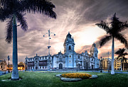 Peru Prints - Lima Cathedral Print by Domingo Leiva
