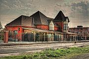 Old Train Prints - Lima Ohio Train Station Print by Pamela Baker