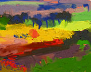 Modern Art Limburg Landscape  Briex Paintings - Limburg landscape by Nop Briex