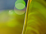 Gold Abstract Glass Art - Lime Abstract Two by Dana Kern