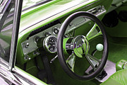 Carolyn Stagger Cokley Art - Lime Chevy Impala  by Carolyn Stagger Cokley