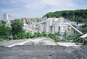 Limestone Quarry Framed Prints - Lime Works Framed Print by Dirk Wiersma