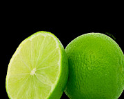 Fresh And Healthy Prints - Limes Print by Cheryl Young