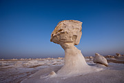 Featured Framed Prints - Limestone Formation White Desert Framed Print by Reinhard Dirscherl