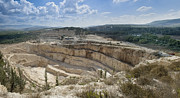 Limestone Quarry Framed Prints - Limestone Quarry in Israel Framed Print by Noam Armonn