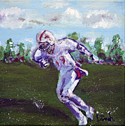 Football Paintings - Limitless_2of 3 set by Dinah Anaya