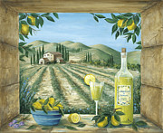 Lemon Painting Posters - Limoncello Poster by Marilyn Dunlap