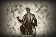 Kelly Digital Art Metal Prints - Lincoln - Pen in Hand Metal Print by Bill Cannon