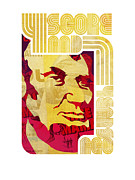 Peter Max Prints - Lincoln 4 Score on White Print by Jeff Steed