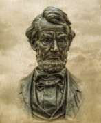 Battle Of Gettysburg Digital Art - Lincoln Address Memorial Statue by Randy Steele