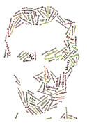 Abraham Lincoln Prints - Lincoln as Word Cloud Print by David Bearden
