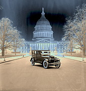 The White House Framed Prints - Lincoln at the White House 1922 Framed Print by Padre Art