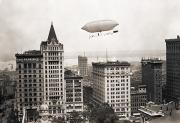 American Aviation Art - Lincoln Beacheys Airship by Granger