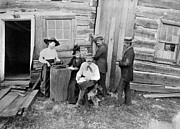 Log Cabin Photos - LINCOLN CABIN, c1891 by Granger