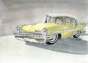 Classic Cars Originals - Lincoln Capri 1957 by Eva Ason