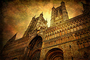 Storm Prints Photo Framed Prints - Lincoln Cathedral Framed Print by Yhun Suarez