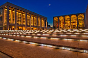 Moon Detail Posters - Lincoln Center at Twilight Poster by Susan Candelario