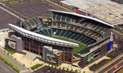 Football Fans Prints - Lincoln Financial Field Philadelphia Eagles Print by Duncan Pearson