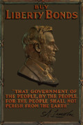 Abe Lincoln Digital Art Posters - Lincoln Gettysburg Address Quote Poster by War Is Hell Store