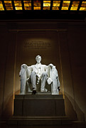 Statue Portrait Prints - Lincoln Print by Jim Chamberlain