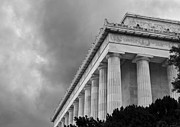 Memorials Prints - Lincoln Memorial - black and white - Washington DC Print by Brendan Reals