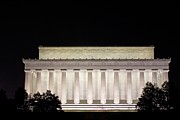 Lincoln Photos - Lincoln Memorial At Night by Tim Wilson