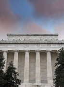 Memorials Prints - Lincoln Memorial beneath colorful sky - Washington DC Print by Brendan Reals