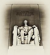 Washington D.c. Digital Art Metal Prints - Lincoln Memorial Metal Print by Bill Cannon