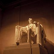 Statue Photo Prints - Lincoln Memorial Print by Gene Sizemore