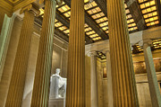 Washington Mall Prints - Lincoln Memorial Print by Jim Pearson