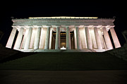 United States Capital Prints - Lincoln Memorial Lit Up At Night Print by Terry Moore