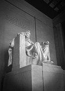 White Digital Art Posters - Lincoln Memorial  Poster by Mike McGlothlen