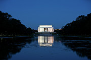 United States Capital Posters - Lincoln Memorial Reflection In Pool Poster by Terry Moore