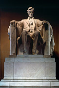 Pedestal Prints - Lincoln Memorial: Statue Print by Granger