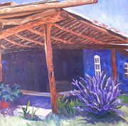 Covered Porch Posters - Lincoln New Mexico Russian Sage Poster by Linda Scott