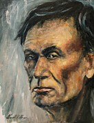 Abe Lincoln Paintings - Lincoln Portrait #14 by Daniel W Green