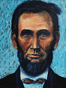 Abe Lincoln Painting Posters - Lincoln Portrait #4 Poster by Daniel W Green